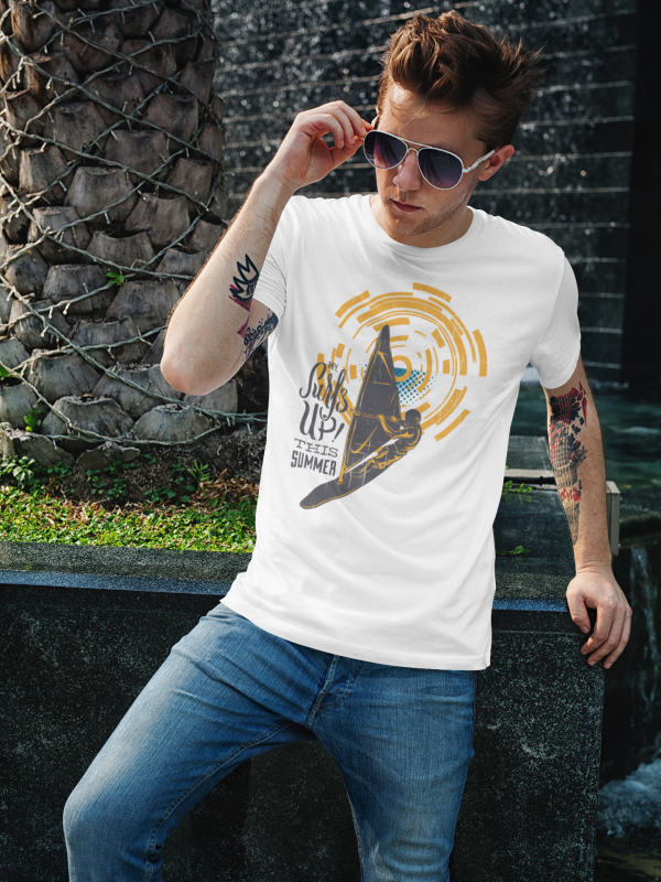 Cooles Herren T-shirt 'Surf up this summer'