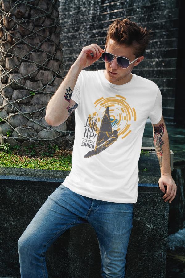Cooles Herren T-shirt 'Surf up this summer'