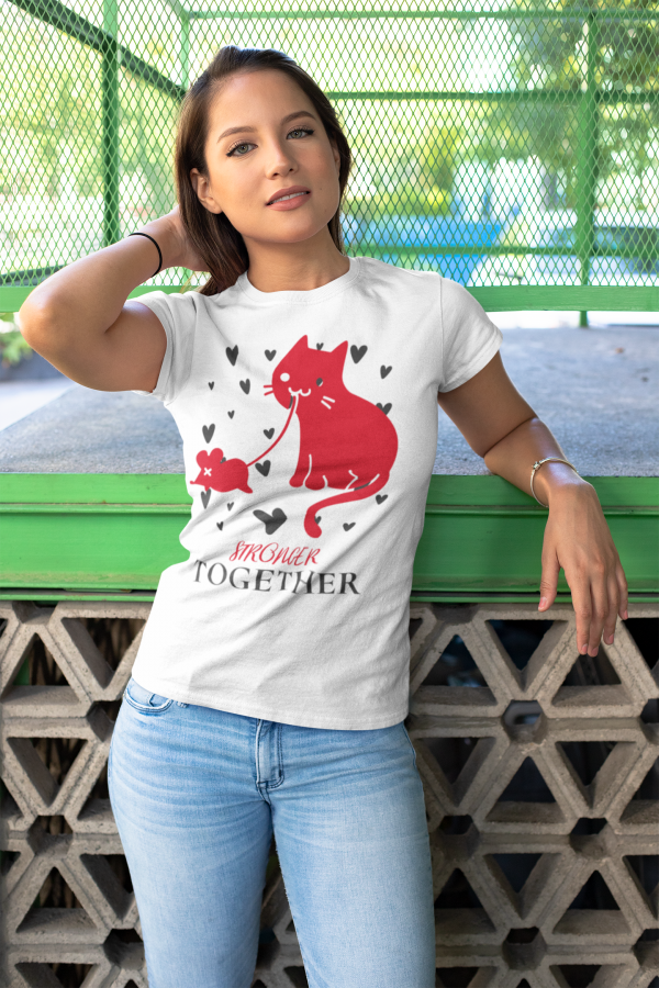 Niedliches T-shirt Stronger Together